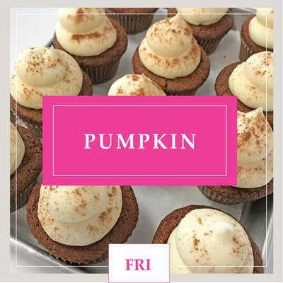 A gluten free Pumpkin cupcake at Cupcake DownSouth, a dessert bakery in Charleston, SC and Columbia, SC