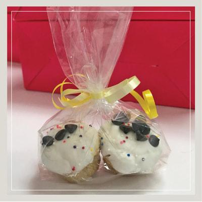 A package of two pupcakes - cupcakes especially for dogs, made with dog safe ingredients - at Cupcake DownSouth in Charleston SC and Columbia SC