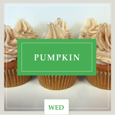 A Vegan Pumpkin cupcake at Cupcake DownSouth, a dessert bakery in Charleston, SC and Columbia, SC